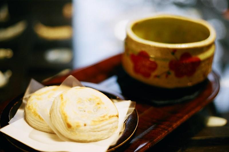 梅ヶ枝餅と抹茶|かさの家