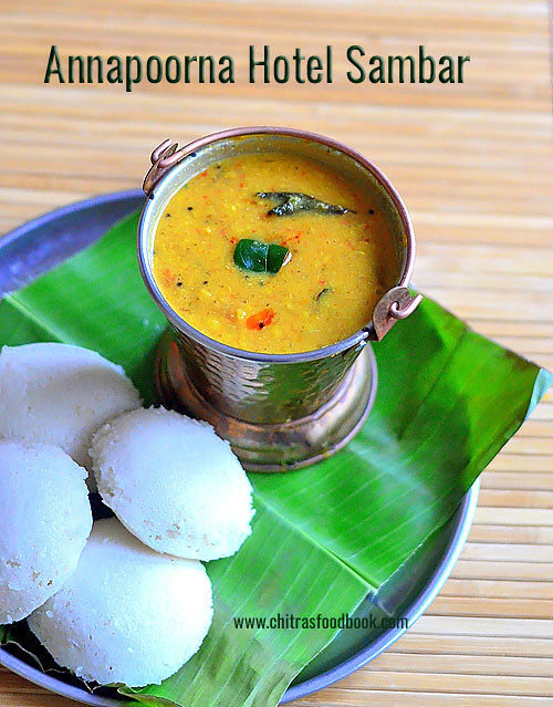 Coimbatore Annapoorna hotel sambar recipe