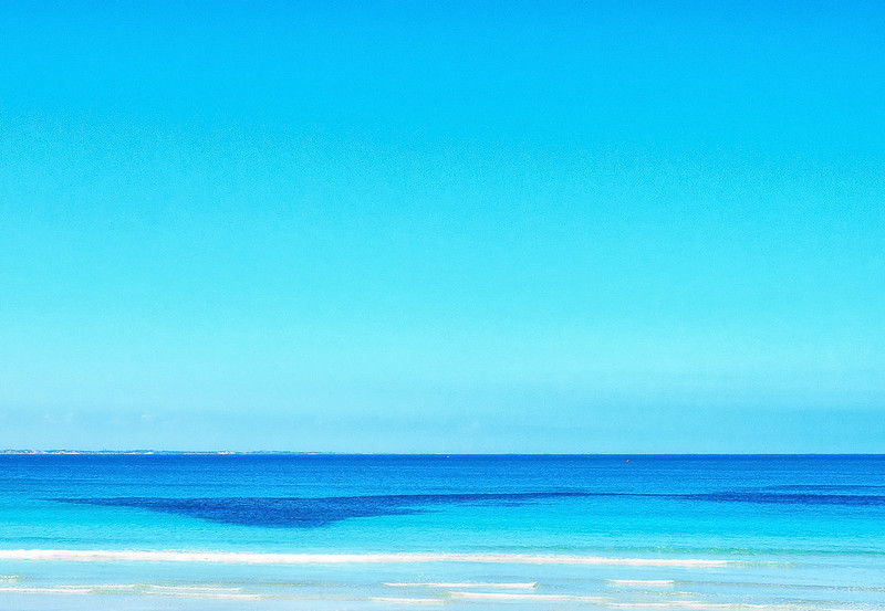 A strange beach scene