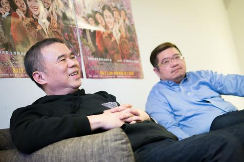 《健忘村》導演陳玉勳(左)、編劇張耀升(右)