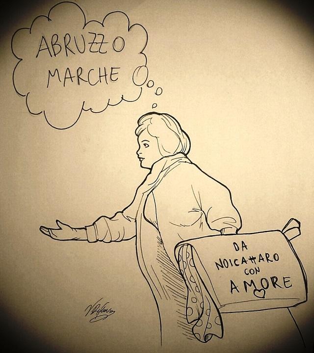Noicattaro. Solidarietà ai terremotati intero vignetta