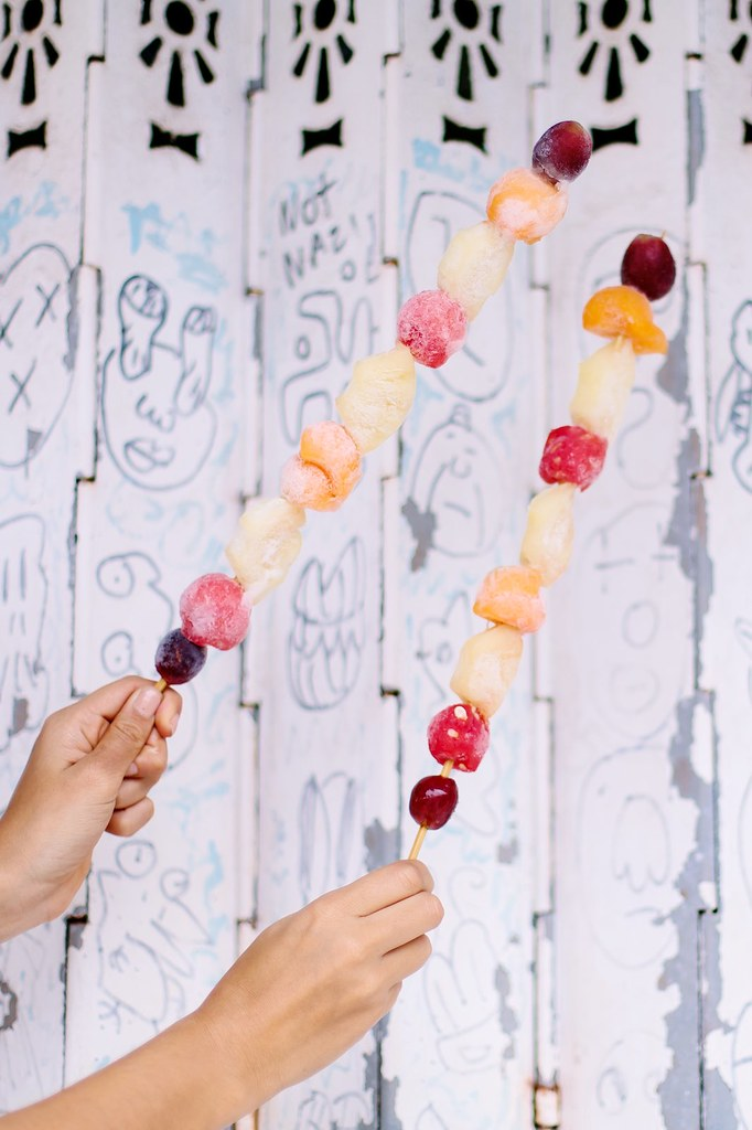 Easy Frozen Fruit Sticks