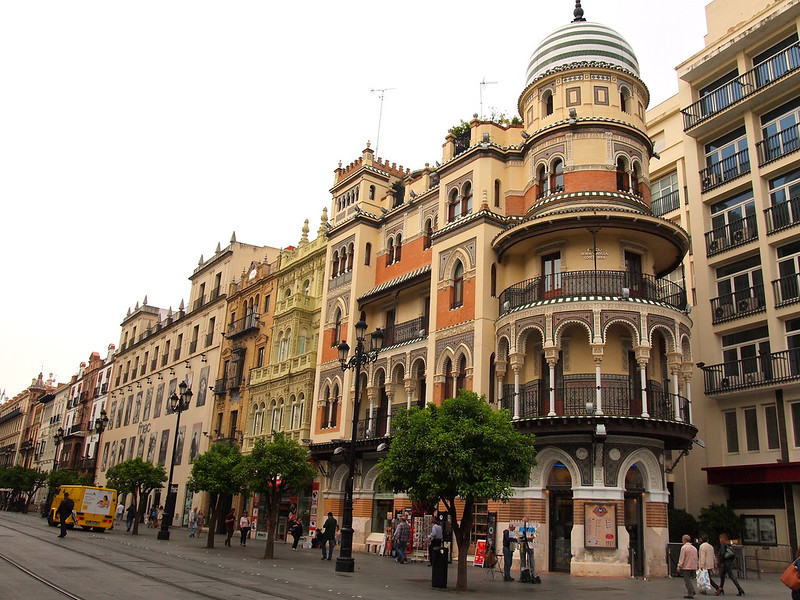 Architecture in Seville, Spain