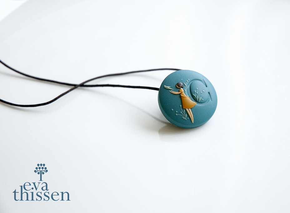 Personalized monogrammed medium sized polymer clay pendant flickr by eva thissen gallery personalized monogrammed medium sized polymer clay pendant or brooch by eva thissen gallery mozeypictures Gallery