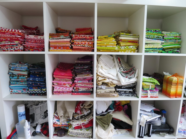 Sewing room stash management