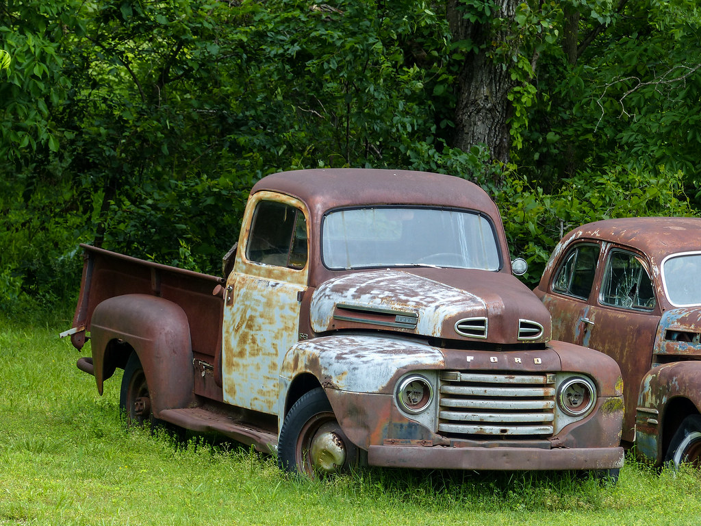 Rusty Old 1948 Ford Pickup Truck | In Missouri on Route 66 n… | Flickr