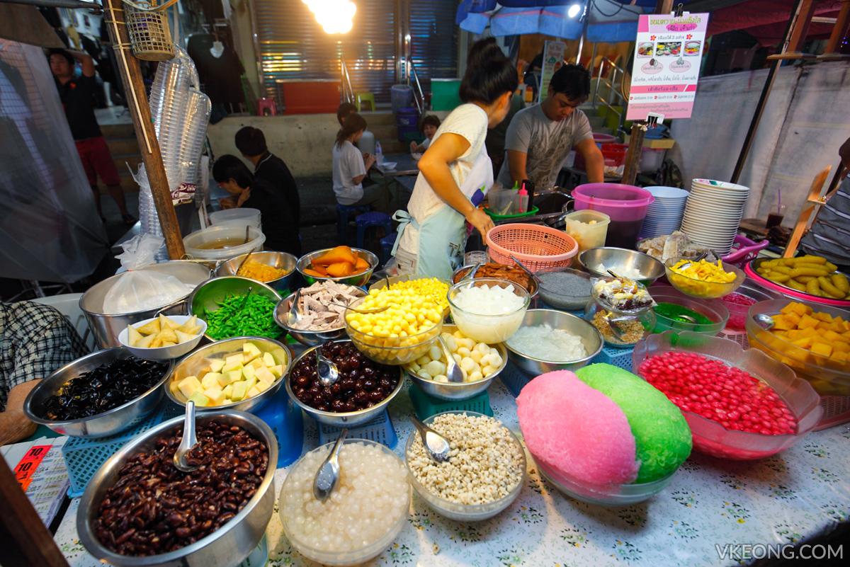 Hua Hin Night Market Dessert Stall