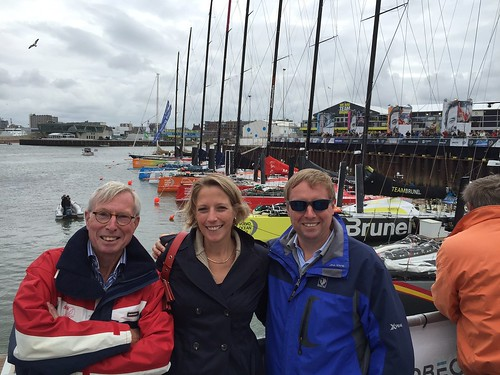 With my dad and sister at the Volvo Ocean Race