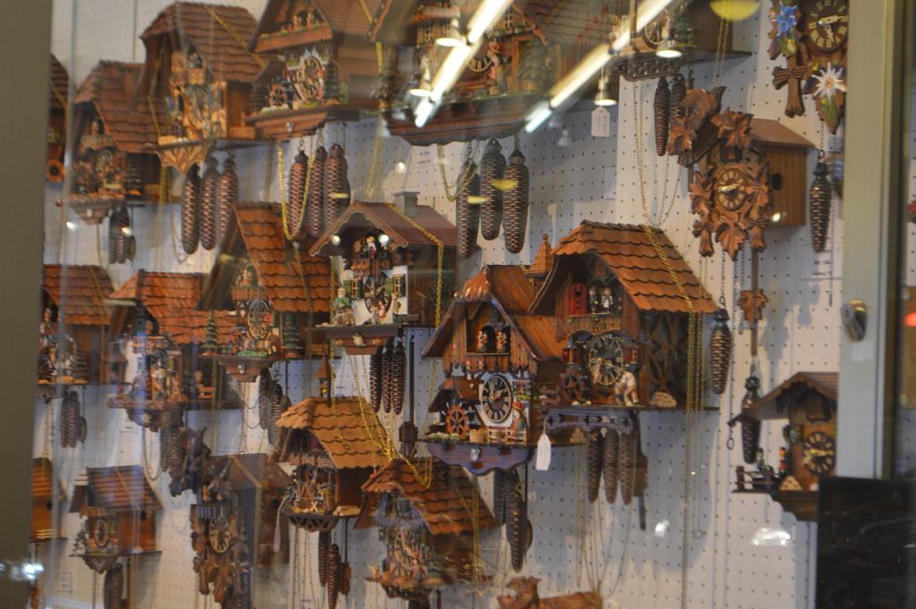 europe swiss wooden cuckoo clocks for sale in the city of lucerne luzern switzerland europe