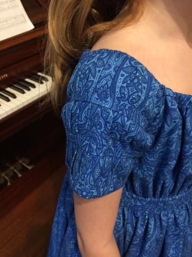 1830's Girl's Dress Sleeve Detail