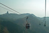 Lantau - Cable cars over the mountains