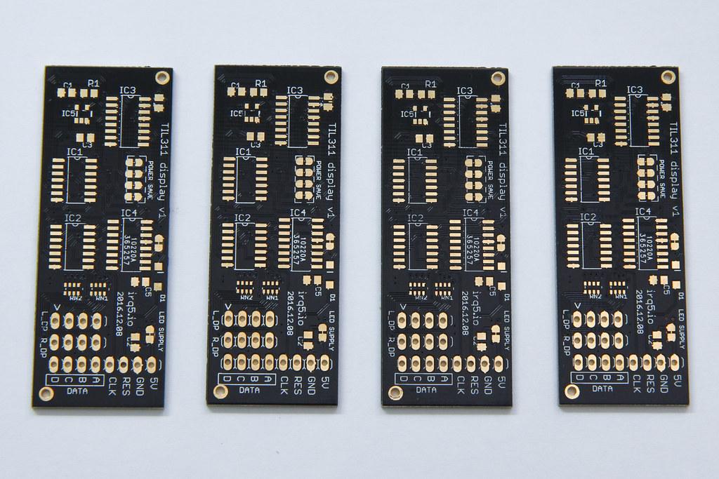 TIL311 display PCBs