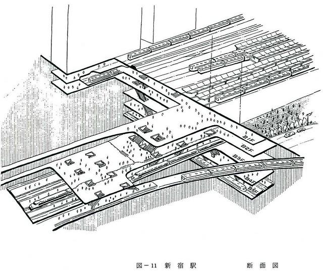 大新宿構想時代の上越新幹線新宿駅地下ホーム (12)