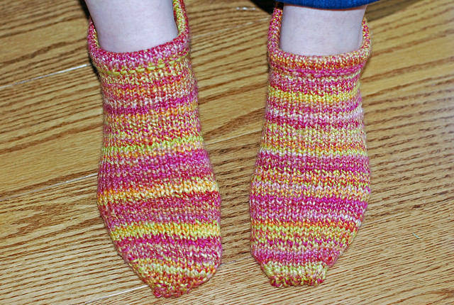 Handspun handknit Corriedale wool Pierogi Slipper Socks finished by irieknit