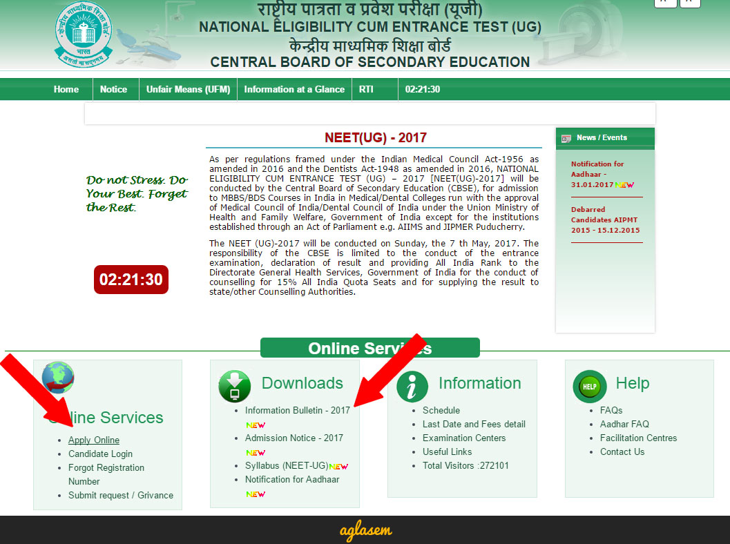 NEET 2017 Application Form (cbseneet.nic.in)