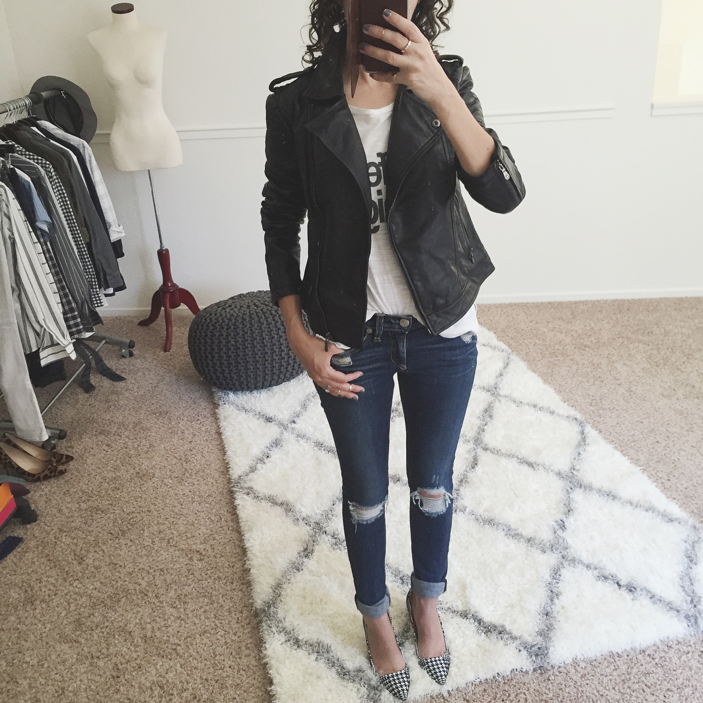 Fit Review Friday – Petite Leather Jacket