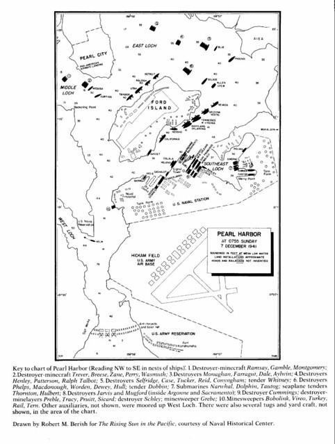 Pearl Harbor Map World War II