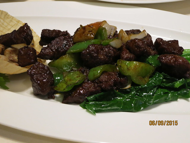 IMG_8036: Marco Polo Ortigas Lung Hin Restaurant: Diced Beef with Goose Liver