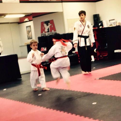 Jump kick at ATA Taekwondo testing