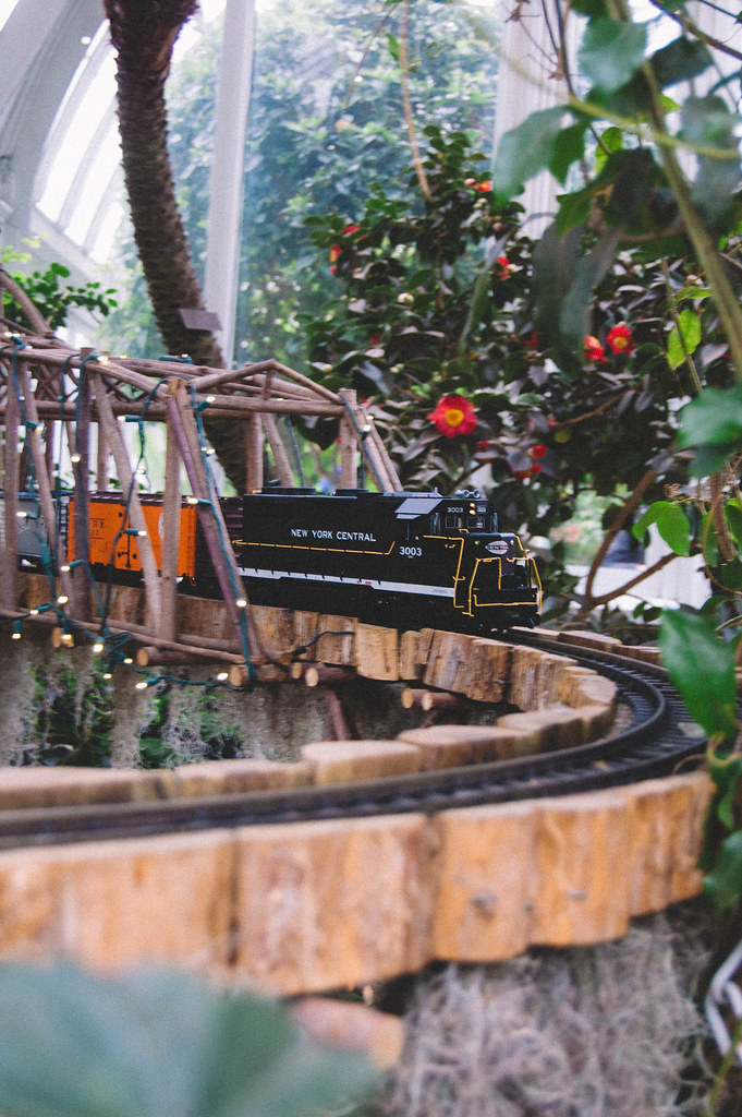 Miniature trains at the New York Botanical Garden