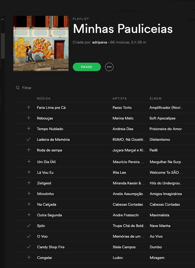 São Paulo Playlist - Clique para ouvir