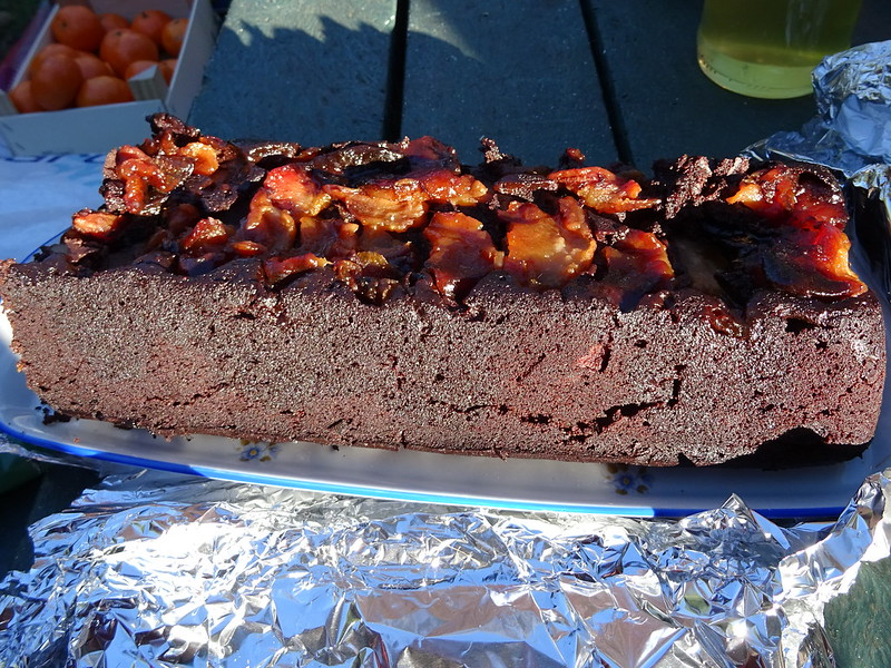 Gâteau renversé poire chocolat