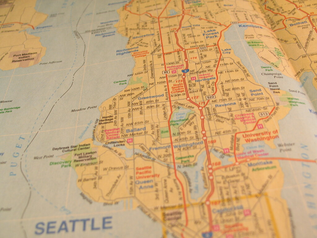 Seattle Mapped | A map of Seattle. Thanks to a phone book fr… | Flickr