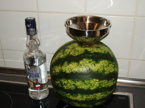 An attempt to create a vodka watermelon. | by access.denied