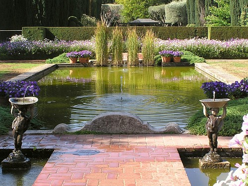 garden pool at filoli mansion filoli historical house