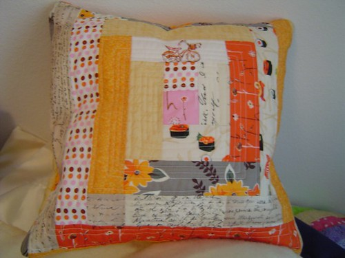 orange pillow complete | by amandasan