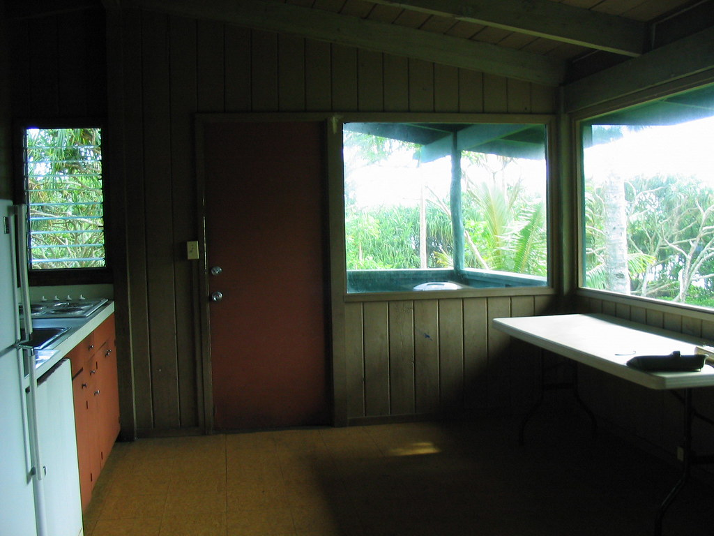 Cabin at Waianapanapa State Park on Maui | The kitchen ...