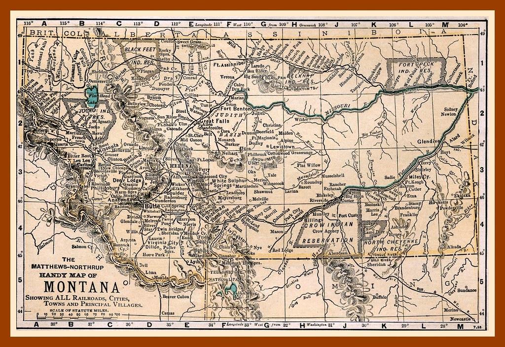 Early Montana Railroad Map  Rick Zolla  Flickr