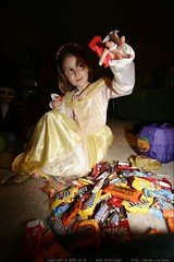 princess jane takes stock of her halloween candy - _MG_8973.JPG | by sean dreilinger