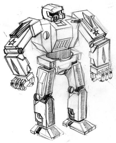 Robot Sketch Lukedaduke Flickr