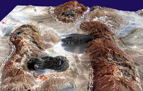 Iran, Zagros Mountain salt glaciers (black); nasa | by lakerae