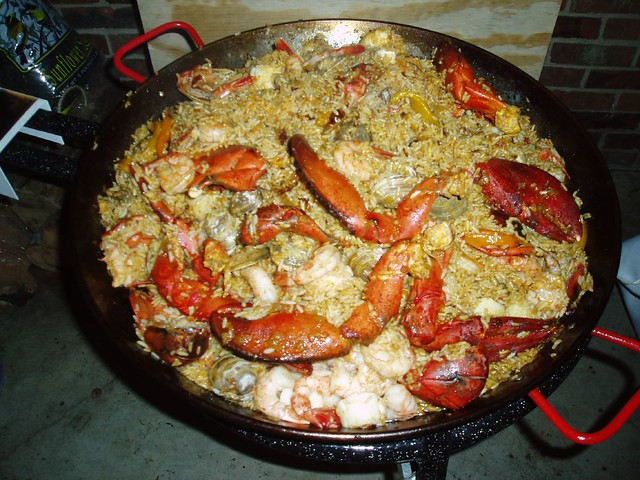 Seafood Paella with Shrimp and Scallops and Lobster Tails … | Flickr