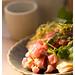 Tuna Tartare with Salad and Croutons