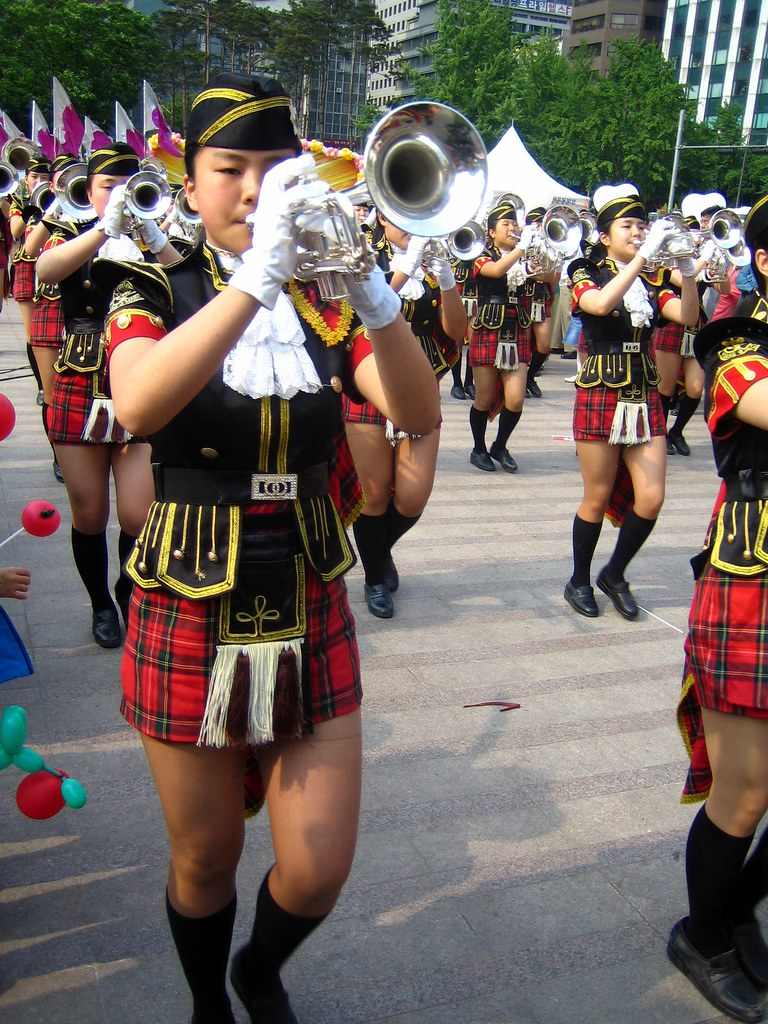 Sexy marching band girls