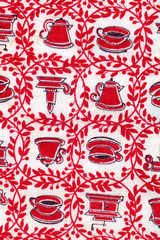 vintage fabric - red kitchen | by kmel