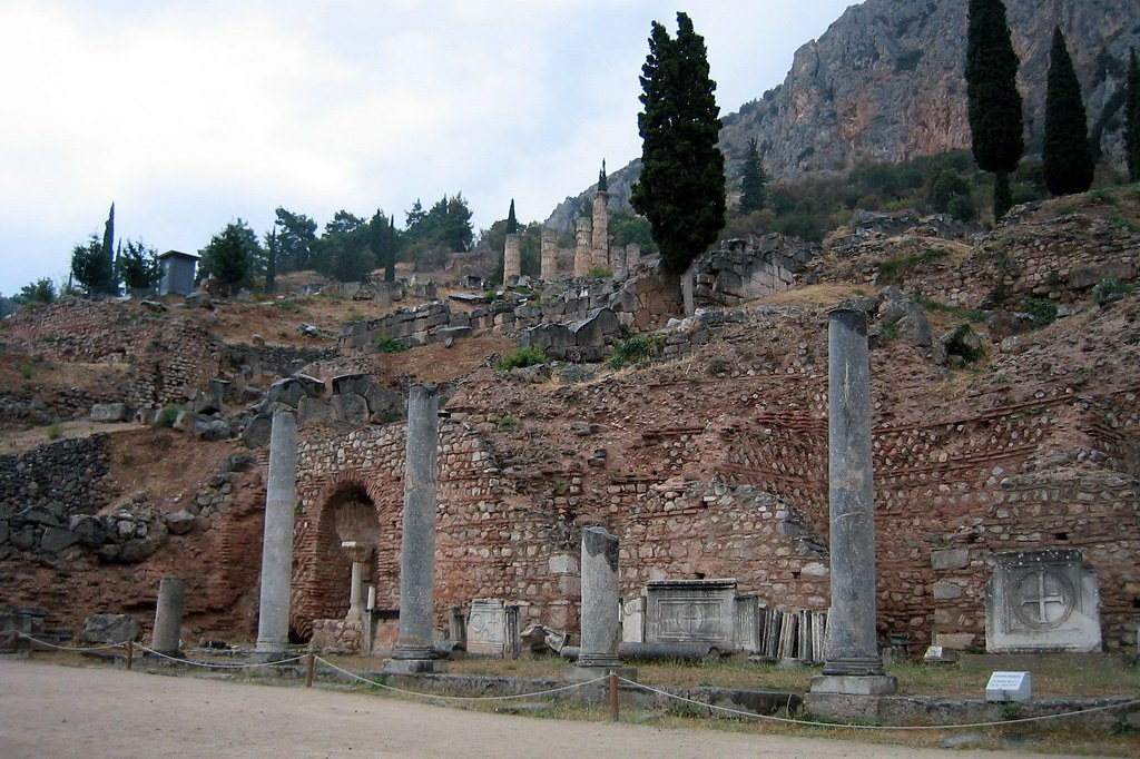 Greece - Delphi: Sacred Way | From the gateway at the ...