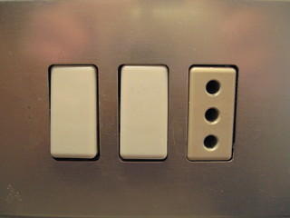 Hotel electrical outlet and light switches | by Inkygirl