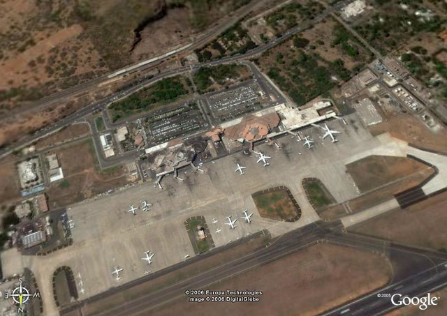 Chennai Airport Google Earth View Chennai International
