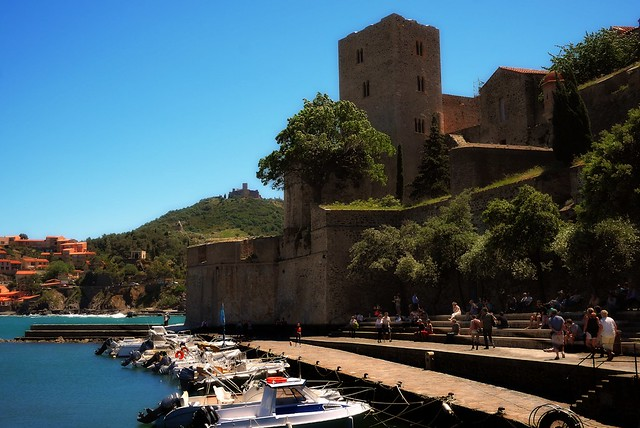 Chateau Royale and Fort St. Elme in Collioure, Sud de France