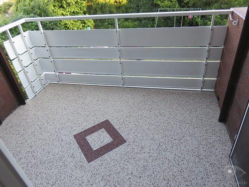 Neuer Balkonboden