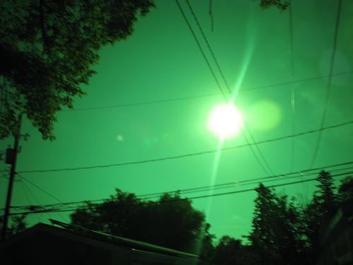Sun with sunspot