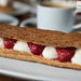 Strawberry and coconut eclair