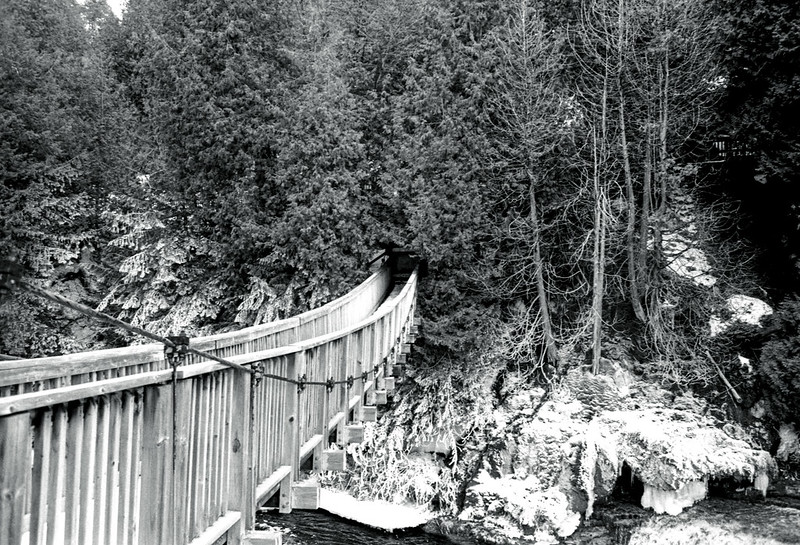Hanging Bridge Across the West Credit