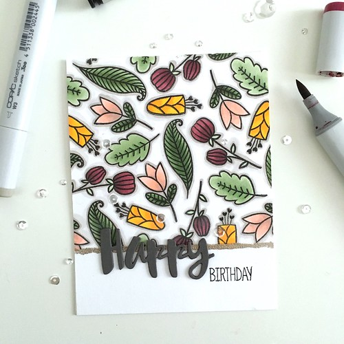 Altenew hello sunshine birthday card
