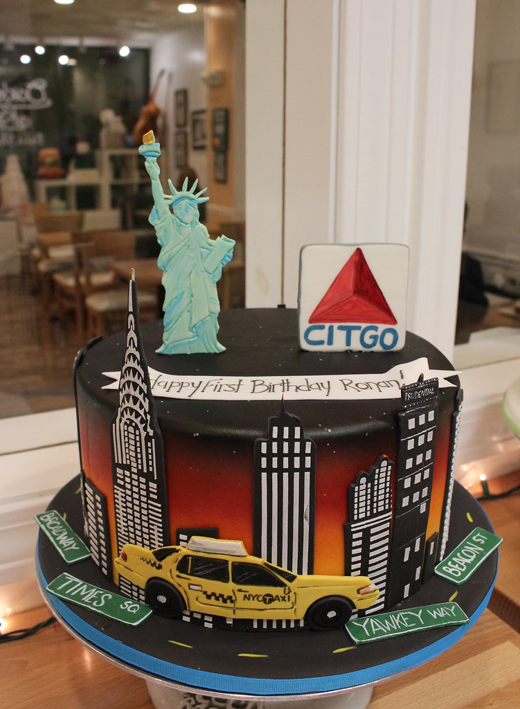 New York And Boston Skylines Cake New York Skyline Boston Flickr
