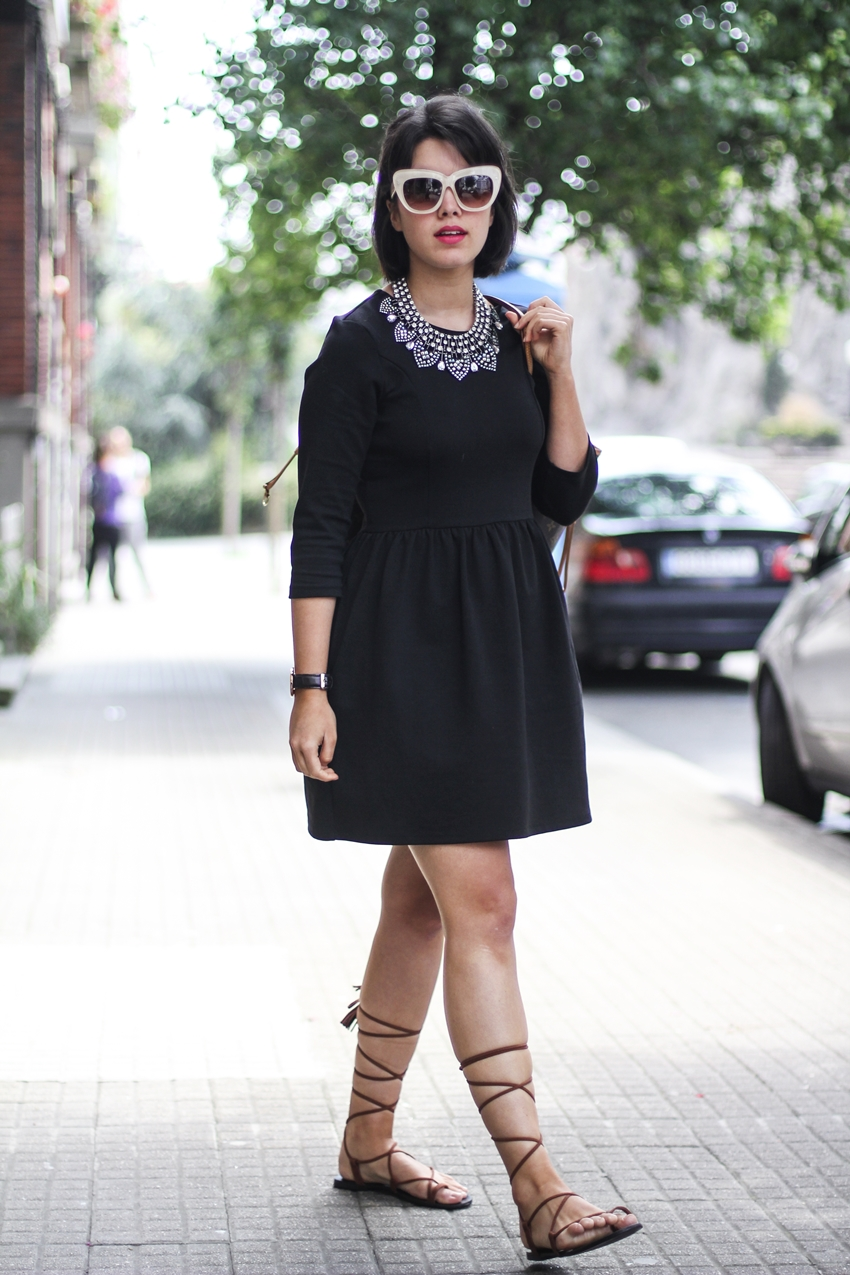 how to wear LBD with gladiator sandals in summer myblueberrynightsblog